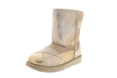 UGG Kinderschuhe CLASSIC SHORT II PATCHWORK BOOT gold