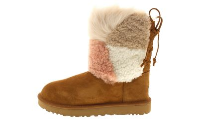 UGG Stiefel - CLASSIC SHORT PATCHWORK FLUFF - chestnut preview 2