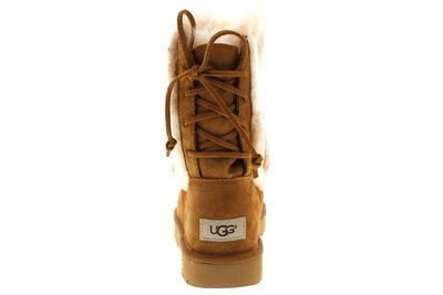 UGG Stiefel - CLASSIC SHORT PATCHWORK FLUFF - chestnut preview 5