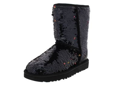 UGG Damenschuhe - Stiefel CLASSIC SHORT SEQUIN - black preview 1