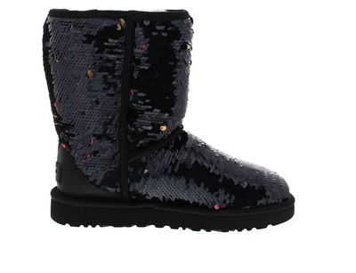UGG Damenschuhe - Stiefel CLASSIC SHORT SEQUIN - black preview 4
