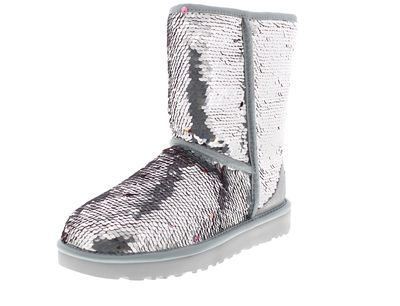 UGG Damenschuhe - Stiefel CLASSIC SHORT SEQUIN - silver preview 1