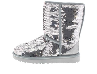 UGG Damenschuhe - Stiefel CLASSIC SHORT SEQUIN - silver preview 2
