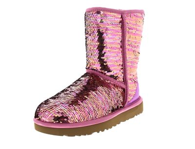 UGG Damenschuhe - Stiefel CLASSIC SHORT SEQUIN - pink preview 1