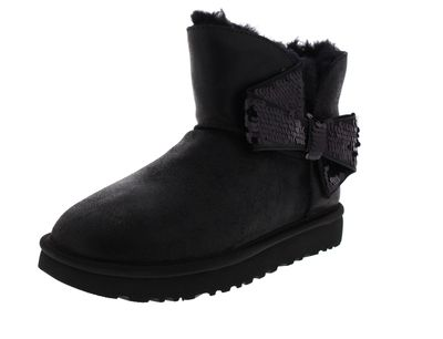 UGG Damenschuhe - Stiefeletten MINI SEQUIN BOW - black