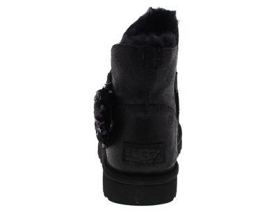 UGG Damenschuhe - Stiefeletten MINI SEQUIN BOW - black preview 5