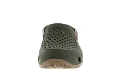 CROCS Herrenschuhe - SWIFTWATER DECK CLOG - army green preview 3