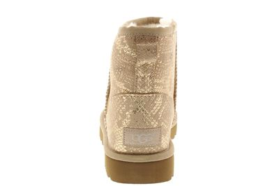 UGG - Stiefeletten CLASSIC MINI METALLIC SNAKE - gold preview 5
