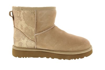 UGG - Stiefeletten CLASSIC MINI METALLIC SNAKE - gold preview 4