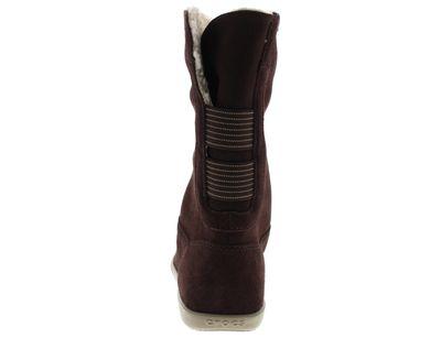 CROCS - Stiefel ADELA FOLDOVER FUZZ Bootie - mahogany preview 5