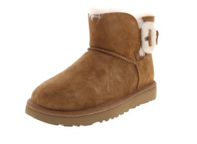 UGG Damenschuhe - MINI BAILEY FLUFF BUCKLE - chestnut