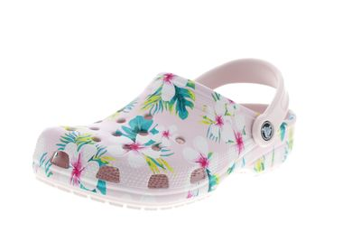 CROCS Clogs CLASSIC SEASONAL GRAPHIC barely pink floral