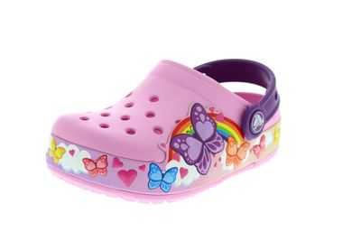 CROCS - Kids FunLab ButterflyBand Lights Clog carnation