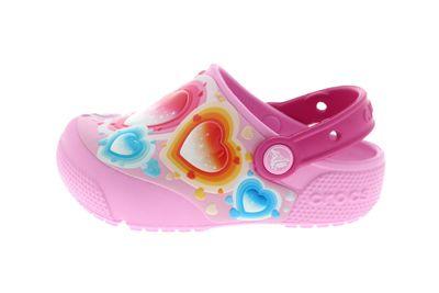 CROCS - Kinderschuhe FunLab HEART LIGHTS Clog carnation preview 2