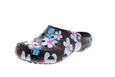CROCS - FREESAIL SEASONAL CLOG - tropical floral black