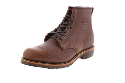 "CHIPPEWA Boots - 6"" PEBBLED FULL GRAIN 1901G35 D - brown"