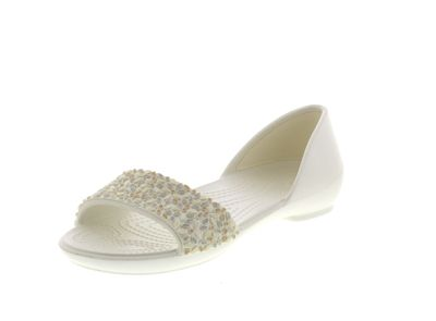 CROCS Damenschuhe - LINA EMBELLISHED DORSAY - Oyster preview 1