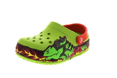 CROCS Kids - CrocsLights FIRE DRAGON Clog - volt green