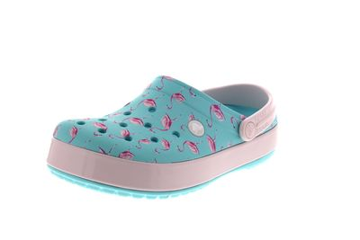 CROCS CROCBAND Seasonal Graphic Clog - ice blue pink