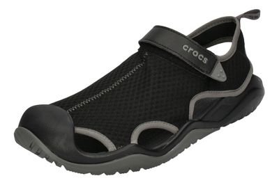 CROCS in Übergröße SWIFTWATER MESH DECK SANDAL black  preview 1