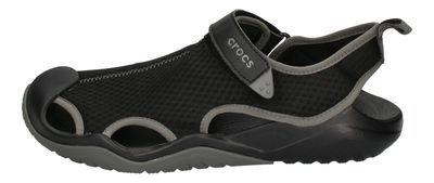 CROCS in Übergröße SWIFTWATER MESH DECK SANDAL black  preview 2
