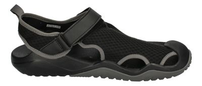 CROCS in Übergröße SWIFTWATER MESH DECK SANDAL black  preview 4