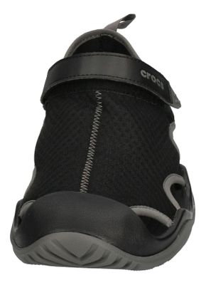 CROCS in Übergröße SWIFTWATER MESH DECK SANDAL black  preview 3