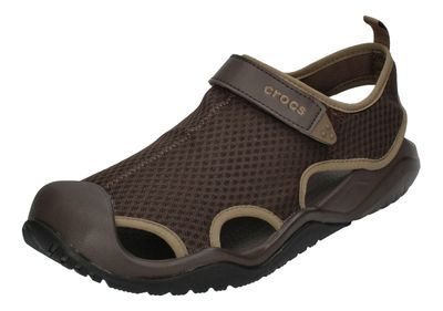 CROCS in Übergröße SWIFTWATER MESH DECK SANDAL espresso