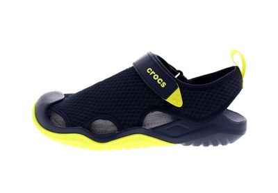 CROCS in Übergröße SWIFTWATER MESH DECK SANDAL navy citrus preview 2