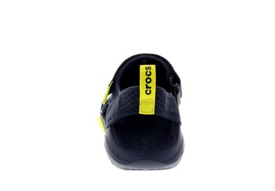 CROCS in Übergröße SWIFTWATER MESH DECK SANDAL navy citrus preview 5