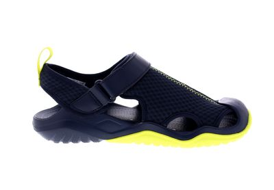 CROCS in Übergröße SWIFTWATER MESH DECK SANDAL navy citrus preview 4