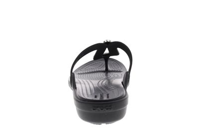 CROCS - Zehentrenner SANRAH LIQUID METALLIC FLIP black preview 5