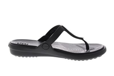 CROCS - Zehentrenner SANRAH LIQUID METALLIC FLIP black preview 4