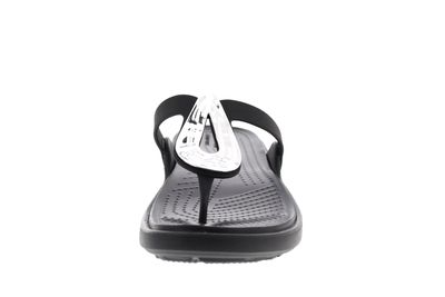 CROCS - Zehentrenner SANRAH LIQUID METALLIC FLIP black preview 3