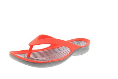 CROCS reduziert Zehentrenner SWIFTWATER FLIP coral grey preview 1