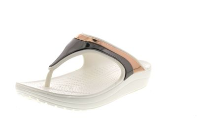 CROCS - SLOANE METAL BLOCK FLIP - multi rose gold oyster