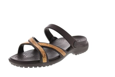 CROCS MELEEN METALLIC TEXTURE CROSS BAND Sandal bronze