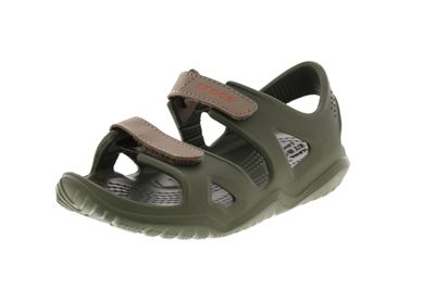 CROCS Kinder - SWIFTWATER RIVER SANDAL army green
