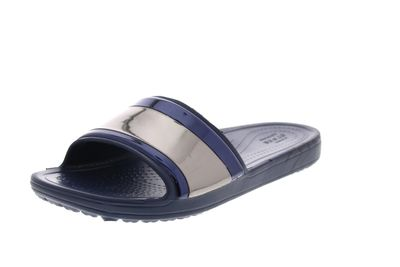 CROCS Pantoletten - SLOANE METAL BLOCK SLIDE multi navy