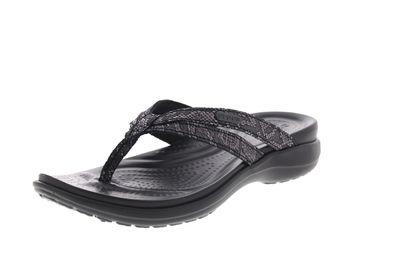 CROCS Schuhe - Zehentrenner CAPRI STRAPPY FLIP - black