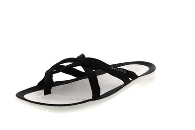 CROCS Zehentrenner SWIFTWATER WEBBING FLIP black white