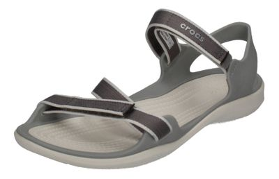 CROCS - SWIFTWATER WEBBING SANDAL - smoke oyster