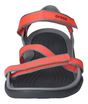 CROCS - SWIFTWATER WEBBING SANDAL - bright coral grey preview 3