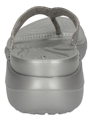 CROCS Schuhe CAPRI METALLIC TEXTURE WEDGE FLIP silver preview 5