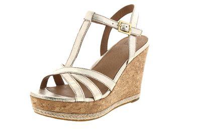 UGG Damen - Keil-Sandalette MELISSA METALLIC - gold