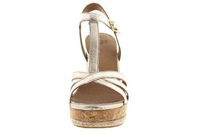 UGG Damen - Keil-Sandalette MELISSA METALLIC - gold preview 3