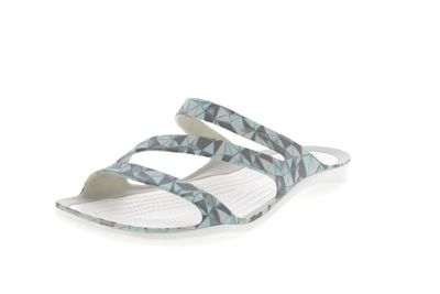 CROCS Damenschuhe SWIFTWATER PRINTED SANDAL - geo white