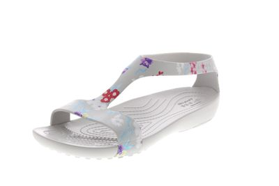 CROCS SERENA Graphic Sandal tropical floral pearl white