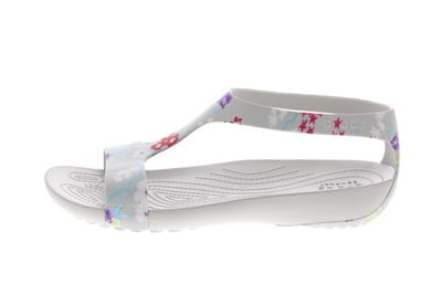CROCS SERENA Graphic Sandal tropical floral pearl white preview 2