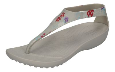 CROCS SERENA Graphic Flip - tropical floral pearl white